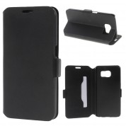 Doormoon Booklet Leather Flip Case Samsung Galaxy S6, Black