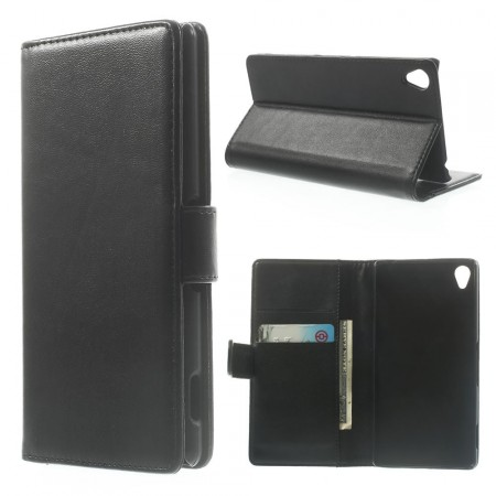 Booklet Flip PU Leather Case for Sony Xperia™ Z3 (D6603), Black