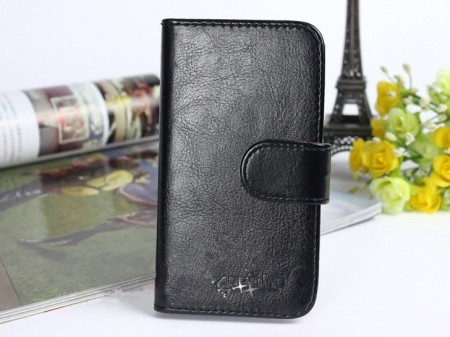 Acrolrs Booklet Leather Flip Case for Huawei Honor 7, Black