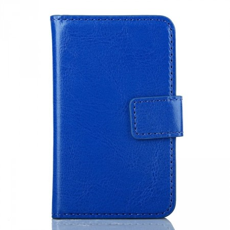 Wallet PU Leather Case for Samsung Galaxy Young 2 (S6310),Blue