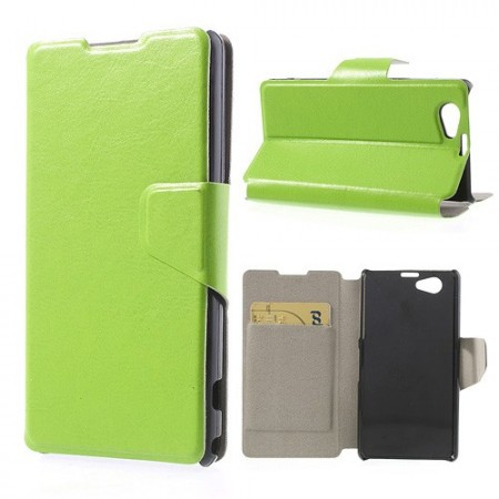 Booklet Flip PU Leather Case for Sony Xperia™ Z1 Compact,*Furro*, Lime