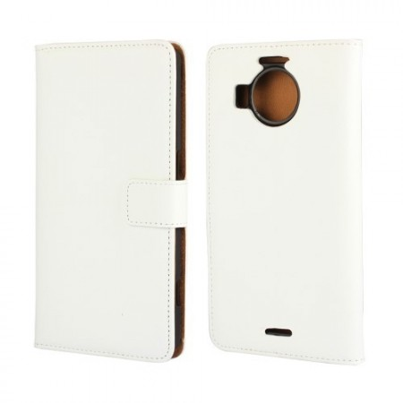 Wallet PU Leather Case for Microsoft Lumia 950 XL, White