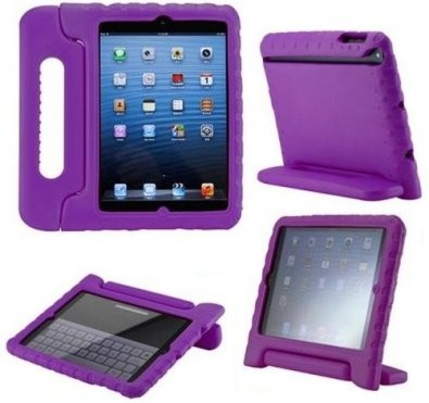 Anti Shock Protection Case for Apple iPad Mini, ¨Carry¨, Purple