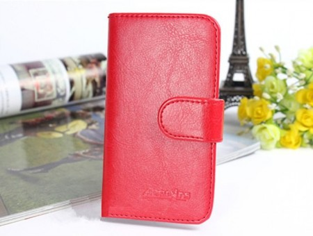 Acrolrs Booklet Leather Flip Case for HTC One A9, Red