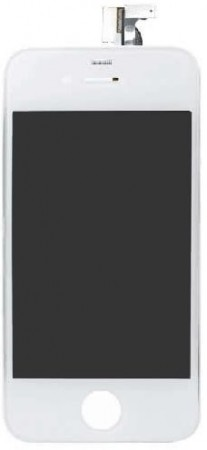 Original LCD-screen with digitizer for Apple iPhone 4, White