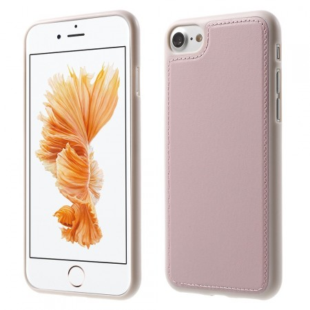 Leather Coated TPU Cover for Apple iPhone 7 (4.7¨), Rose Gold