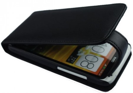 Doormoon Vertical Leather Flip Case HTC One X/X+, Black