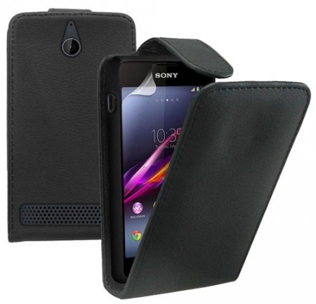 Flip PU Leather Case for Sony Xperia™ E1 (D2005), Black