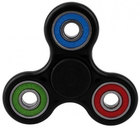 Fidget Spinner ¨TriColor¨, Black/Blue/Green/Red