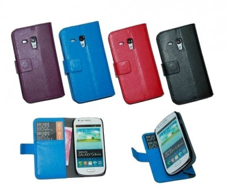 Booklet Flip PU Leather Case for Samsung Galaxy III mini (i8190)