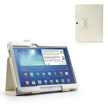 Booklet PU Leather Case Samsung Galaxy Tab3-10.1,White