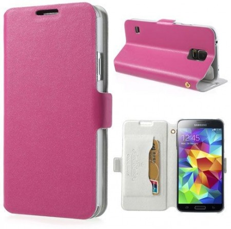 Doormoon Booklet Leather Flip Case Samsung Galaxy S5, Rose