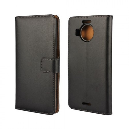 Wallet PU Leather Case for Microsoft Lumia 950 XL, Black