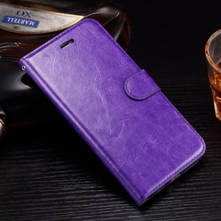 Wallet PU Leather Case for Apple iPhone 7 Plus, Purple