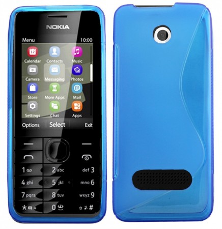 Flexi Shield Skin Nokia 301, *S-line*,Blue