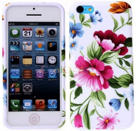 Flexi Shield Skin for Apple iPhone SE/5/5s,*Decor Design*, Flower