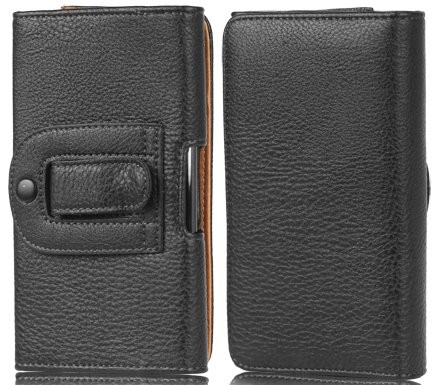 Horizontal PU leather case for Samsung Galaxy Note I & II, Black