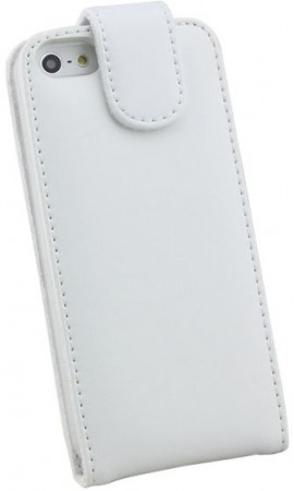 Doormoon Vertical Leather Flip Case for Apple iPhone 5/5S, White