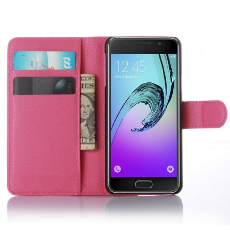 Wallet PU Leather Case for Samsung Galaxy A3 (2016), Rose