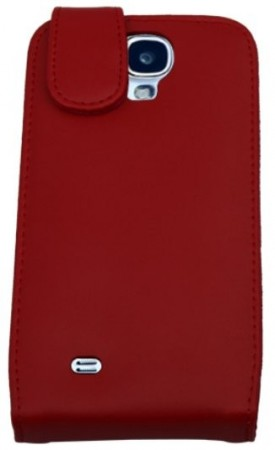 Doormoon Vertical Leather Flip Case Samsung Galaxy S4, Red