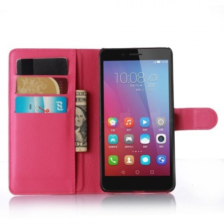 Wallet PU Leather Case for Huawei Honor 5X, Rose