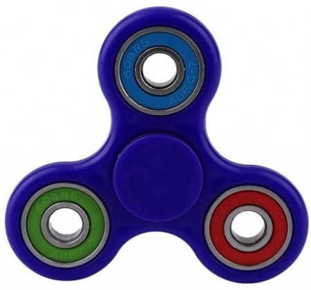 Fidget Spinner ¨TriColor¨, Blue/Green/Blue/Red