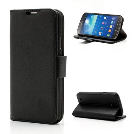Booklet Flip PU Leather Case for Samsung Galaxy S4 Active (i9295), Black