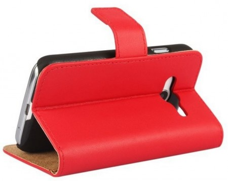 Wallet PU Leather Case for Samsung Galaxy Trend 2 Lite (G313HN), Red