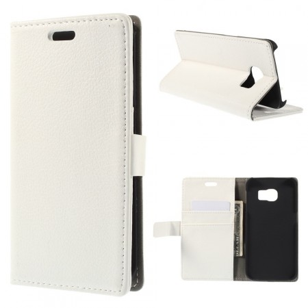 Wallet PU Leather Case for Samsung Galaxy S6 Edge, White