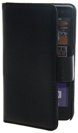 Booklet Flip PU Leather Case for Nokia Lumia 625, Black
