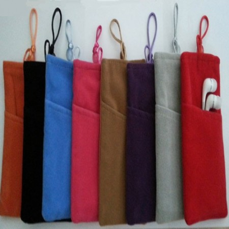Plush pouch bag for cellular phones, L