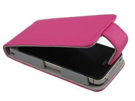 Doormoon Vertical Leather Flip Case Apple iPhone 4(S), Hot Pink