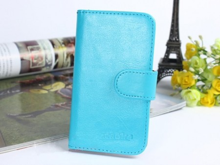 Acrolrs Booklet Leather Flip Case for HTC One A9, Blue