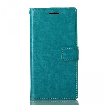 Wallet PU Leather Case for Huawei Ascend P7, Blue