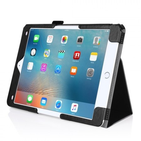 Booklet PU Leather Case for Apple iPad Pro 9.7¨ w/card holder, Black