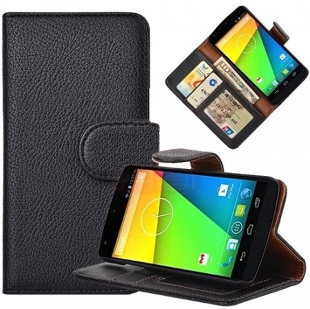 Booklet Flip PU Leather Case for LG Nexus 5 (E980), Black
