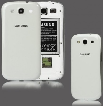 Original battericover for Samsung Galaxy S III, Marble White