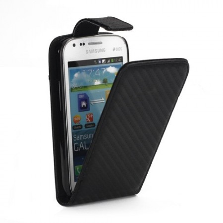 Flip PU Leather Case for Samsung Galaxy Trend Pluss (S7580), Black
