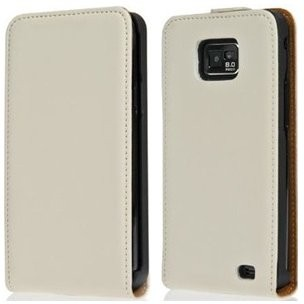 Flip Cow Leather Case for Samsung Galaxy S II