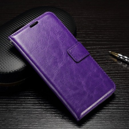 Wallet Flip PU Leather Case for Huawei P9, Purple
