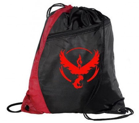 Gymsekk Pokémon GO ¨Team Valor¨,Black-Red