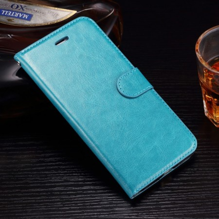 Wallet PU Leather Case for Apple iPhone 7 Plus, Turquoise