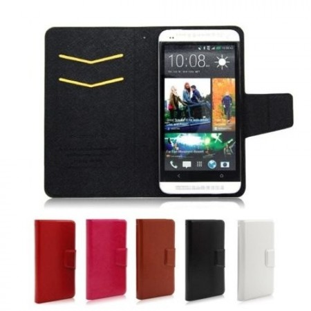 "Universal PU booklet leather case for cellular phones, 3,5"" - 4,0"""