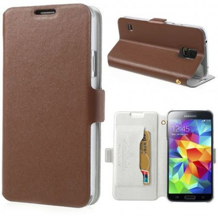 Doormoon Booklet Leather Flip Case Samsung Galaxy S5, Mocca
