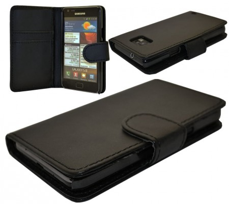 Booklet PU Leather Flip Case Samsung Galaxy S II/S II Plus