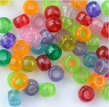 Loom-Bands Acrylic Beads, *Glitter Pearls*