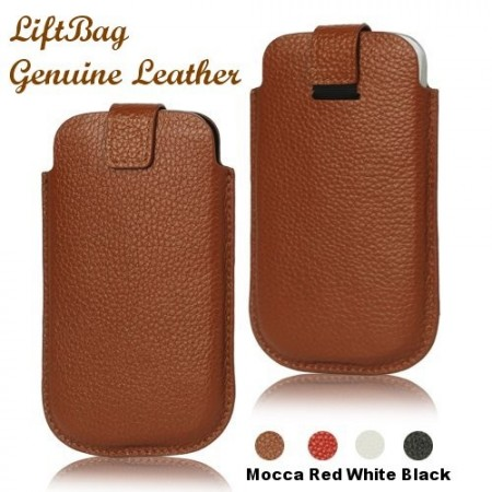 LiftBag genuine leather pouch for cell. phones, XL