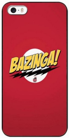Hard Back Case for Apple iPhone SE/5/5s,¨Big Bang Theory¨, Bazinga!