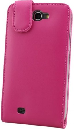 Doormoon Vertical Leather Flip Case Samsung Galaxy Note II, Hot Pink