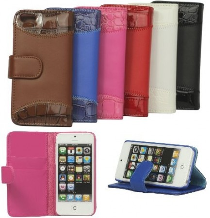 Booklet PU leather case for Apple iPhone SE/5/5s, *Croco*